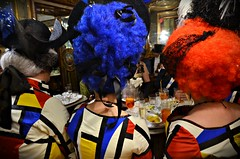 Tribute to Mondrian (Aránzazu Vel) Tags: mondrian caffeflorian venezia hairstyle carnivalcostume disfraz venicecarnival