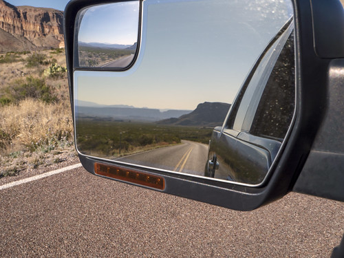 Santa Elena Canyon in the rearview mirror