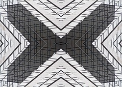 (jfre81) Tags: abstract pattern folded mirrored flipped kaleidoscope symmetry geometry minimalist lines x arrows inward indianapolis indiana indy jfre81 james fremont photography canon rebel xs