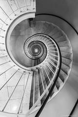 Spiral out, keep going spiral out.. (bjoernahrensfotografie) Tags: munich münchen stairs staircase treppen treppenhaus abstract spiral abstrakt schwarzweiss blackandwhite spirale architektur architecture canon canoneos canoneosr