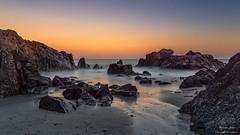 kennack Sands Sunset. (cornwalloncamera) Tags: cornwall kernow uk kennack sands beach sunset sea rocks sky colour longexposure autumn october cornish coast shore coastpath thelizard