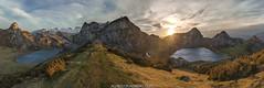 Enol y Ercina (Alfredo Madrigal) Tags: landscape panoramica paisaje asturias lagos lakes covadonga sol sun nikon d750 nubes clouds mountains montañas