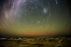 Vortex (myramblingtales.com) Tags: stars startrails shoreline seascape landscape abstract night rocks