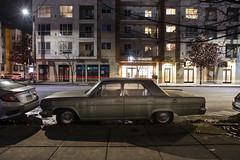'66 Rambler (Curtis Gregory Perry) Tags: portland oregon 1966 rambler 550 classic sedan green night longexposure car vehicle burnside street nikon d810 automóvil coche carro vehículo مركبة veículo fahrzeug automobil