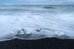 Jokulsarlon Beach (virtualwayfarer) Tags: easternregion iceland is icelandic nordic island travelphotography travel roadtrip adventure nature natural sonyalpha a7rii ringroad glacier glacial ice snow snowy winter snowmelt landscape landscapephotography diamondbeach lagoon seaside seascape seaphotography ocean naturephotography longexposure sunset latelight lastlight motion motionblur movement frozen alexberger travelphotographer wild untamed jökulsárlón glacierlagoon greatnature travelinspiration seatrails blacksand blacksandbeach beach