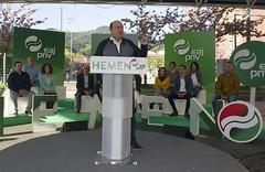 Mitina. Andoni Ortuzar, Almudena Otaola, Mikel Legarda. Laudio (EAJ-PNV) Tags: eajpnv euzkoalderdijeltzalea euzkadi partidonacionalistavasco basquecountry basque basquenationalparty hemeneajpnv laudio andoniortuzar