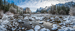 Yosemite Valley View Merced River Winter! Multishot Panorama Stitched in Lightroom Nikkor 14-24mm Wide Angle F2.8 Zoom Lens from Nikon. Yosemite Winter Snow Valley View Fine Art! Nikon D850 Yosemite National Park Winter Snow Fine Art California! (45SURF Hero's Odyssey Mythology Landscapes & Godde) Tags: nikon d850 yosemite national park winter snow fine art california landscape photography nikkor 1424mm wide angle f28 zoom lens from valley view high res 4k 8k elliot mcgucken parks snowstorm merced river multishot panorama stitched lightroom