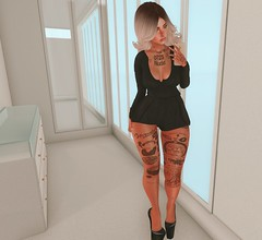 His call (Bel Gables) Tags: catwa maitreya moda runaway teefy amala black romper secondlife mobile flf affair glam