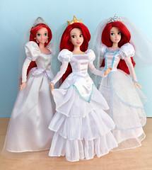 Three Weddings (honeysuckle jasmine) Tags: princess disneyprincess dolls doll wedding bride mermaid thelittlemermaid disney ariel