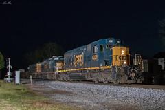 Triple 40s at the DD (travisnewman100) Tags: csx train railroad freight manifest cartersville georgia wa subdivision atlanta division 474 q542 emd sd403 sd402 night yn3b