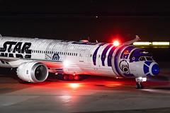 JA783A All Nippon Airways (ANA) Boeing 787-9 Dreamliner (buchroeder.paul) Tags: eddl dus dusseldorf international airport germany europe ground night ja783a all nippon airways ana boeing 7879 dreamliner beacon