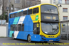 Route 17C, Blackrock Rail Station to Rialto. Go-Ahead (Ireland), 11560, February 2019 (Shamrock 105) Tags: dublin dublinbus goaheadireland volvob5tl wrightbus blackrock belfield ucd ballymount rialto
