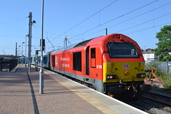 DB Cargo 67013 (Will Swain) Tags: chester station 19th june 2018 cheshire north west south county train trains rail railway railways transport travel uk britain vehicle vehicles england english europe class 67 warrington bank quay db cargo 67013 013