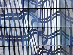 horizontal format (vertblu) Tags: fence metalfence metal shadow shadows playonshadows blue white bluewhite castingshadows shadowcast latticefence palings abstract abstrakt abstraction abstracted distorted distortion falloff vertblu geometric geometrical geometry lines linien crossinglines verticals horizontals banner adbanner advertisingbanner pattern patterning graphic graphical
