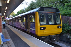 Northern Pacer 142055 (Will Swain) Tags: station 5th july 2018 salford crescent greater manchester city centre north west train trains rail railway railways transport travel uk britain vehicle vehicles england english europe northern pacer 142 class 142055 055 55