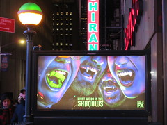 What We Do in the Shadows Billboard Poster Ad 2702 (Brechtbug) Tags: what we do shadows billboard poster ad over subway entrance american comedy horror television series fx march 27th 2019 channel starring kayvan novak matt berry natasia demetriou harvey guillen based 2014 film by jemaine clement taika waititi about three vampires who have been roommates for hundreds years ads advertisement tv show