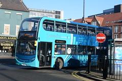 ANE 7522 @ Newcastle-upon-Tyne Eldon Square/Haymarket bus station (ianjpoole) Tags: arriva north east alexander dennis enviro 400 nk14gfj 7522 working sapphire route 43 newcastleupontyne haymarket bus station dudley lane shops cramlington