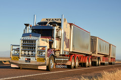 Meaney Transport - Kenworth T909 (Scottyb28) Tags: kenworth t909 truck trucks trucking highway haulage diesel loaded outback transport