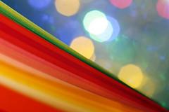 Colorful papers (Christian Chene Tahiti) Tags: canon 6d arcenciel rainbow papier paper lamelle bandelette macro macrolens polynésie jaune rouge orange bleu rose blanc tahiti paea bokeh