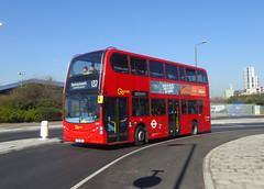 GAL E244 - YX61DPY - COMMERCIAL WAY EAST GREENWICH - TUE 26TH FEB 2019 (Bexleybus) Tags: commercial way east greenwich se10 bq ikea adl dennis enviro 400 goahead go ahead london tfl route 132 e244 yx61dpy
