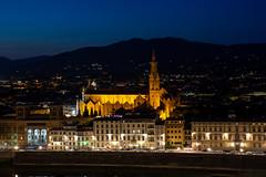 Basilica of Santa Croce (dxd379) Tags: italy italia europe florence firenze nikon d7100 night photography long exposure arno