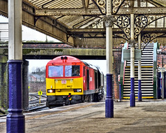 Come On In (whosoever2) Tags: uk united kingdom gb great britain england nikon d7100 train railway railroad march 2019 northwich cheshire arpley tunstead dbcargo class60 60017 6h02