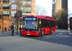 GAL SEE63 - LJ67DKF - ELEPHANT & CASTLE - THU 17TH JAN 2019 (Bexleybus) Tags: ec elephant and castle underground station london road newington causeway goahead go ahead adl dennis enviro 200 mmc byd electric bus tfl route hybrid 360 see63 lj67dkf