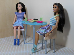 Francesca & Alison (BackToTheChildhood80) Tags: barbie doll mattel dreamhouse raquelle nikki black dinner table playset