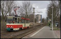 SVF, #212 (Mecki92) Tags: tatra kt4d svf mühlenweg probefahrt werkstattfahrt 212 stadtverkehrsgesellschaftfrankfurtoder plattenbau rot elfenbein