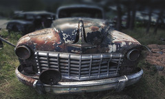 Beauty and decay (Fr@ηk ) Tags: norway dodge american car rust oldtimer vintage usa fender hood bokeh wideangle travel hiking europe found trip road 8cylinder petrolhead mrtungsten62 rec0309 europ12 frnk canon6d ef1635mmisl 1635mmf40l austin mg59 ƒr㋡ηk
