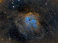 Tadpole Nebula 030319 (Jeffrey Sines) Tags: tadpole nebula nebulae astrophotography telescope space narrowband pixinsight baader sky night stars camera photography