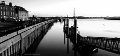 Quayside Reflections (damhphotography) Tags: bw monochrome river quay outside shadow light norfolk kingslynn