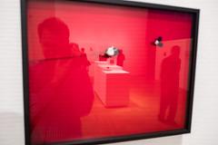 untitled (gregor.zukowski) Tags: warsaw warszawa street streetphoto gallery museum selfportrait reflections zachęta red fujifilm candid