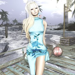 Kokomo (Ombrebleue Winsmore) Tags: sissboom monso maitreya lelutka glamaffair formanails lmipro groupgift dress casual asian couture nails bento head body applier skin hair blond lumiro fashion