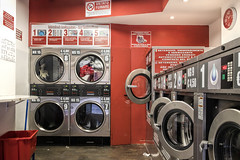 Laundromat (dckellyphoto) Tags: italy italia florence firenze 2019 europe travel trip tuscany toscana canon6dmarkii laundromat red