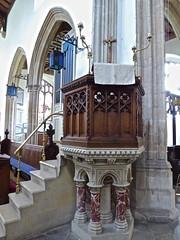 Stoke by Nayland - St Mary's (Glass Angel) Tags: pulpit suffolk uk england stokebynayland stmaryschurch