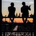 Munich - Hackerbrücke (maludos99) Tags: gesture munich fuji street streetphotography silhouette sunset
