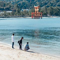 仨 (Ming Yam) Tags: miyajima hiroshima 鳥居 宮島 廣島 広島 日本 japan 100mm ef100mmf2usm 5dmarkii travel 旅行 2019 january sea sunny people