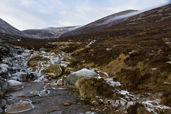 Cold Highland Mists (steve_whitmarsh) Tags: aberdeenshire scotland scottishhighlands highlands mountain hills water stream burn glen landscape ice winter topic abigfave