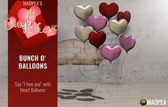 Bunch o' Balloons - 14 Days of Love Calendar Day 3 (MadPea Productions) Tags: madpea productions madpeas 14days love calendar gift gifts valentines valentine decor cupid