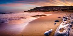 Good Morning Gozo (K.H.Reichert [ not explored ]) Tags: ramla longexposure ocean beach sunrise impressionen strand clouds felsen sea malta ramlabeach sky coast gozo rocks
