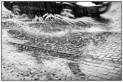 Splash (unukorno) Tags: rain water car street regen wasser strase fahrzeug move bewegung frame bw blackwhite sw auto