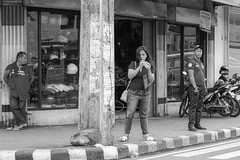 Corner (Beegee49) Tags: street people filipina traffic enforcer watching standing corner blackandwhite monochrome bw happy planet luminar sony a6000 bacolod city philippines asia