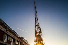 Bristol sfternoon glow 7 (strangesimon) Tags: abstract crane explore plane boats port dock light glow bbcrb