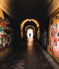 Tunnel in Offenbach am Main (tfading) Tags: street germany offenbach tunnel