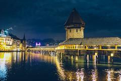 Kapellbrücke (Bephep2010) Tags: 2019 35mmf14dghsmart 7markiii alpha bridge brücke fluss ilce7m3 kapellbrücke lucerne luzern nacht reuss schweiz sigma sony switzerland winter night river ⍺7iii kantonluzern ch