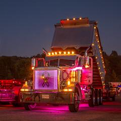 Peterbilt 379 (NoVa Truck & Transport Photos) Tags: peterbilt 379 dump truck white pine paving hampstead md breast cancer awareness big rig 2017 large car mag southern classic ta lexington va