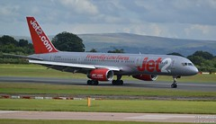 Jet2 757 G-LSAG arrives from Funchal (Tim R-T-C) Tags: 757200 boeing boeing757 glsag manchester manchesterinternationalairport aircraft airliner airplane aviation civilaviation cn24014