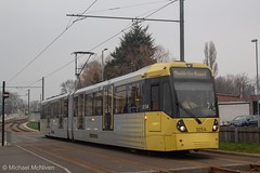 Manchester Metrolink 3054 (Mike McNiven) Tags: manchester metrolink metro tram lightrail lrv manchesterairport airport victoria marketstreet baguley