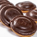 Close-up of chocolate-marmalade cookies